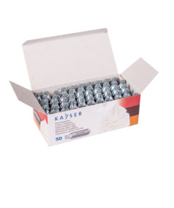 kayser 50er pack cream chargers sahnekapseln offene verpackung
